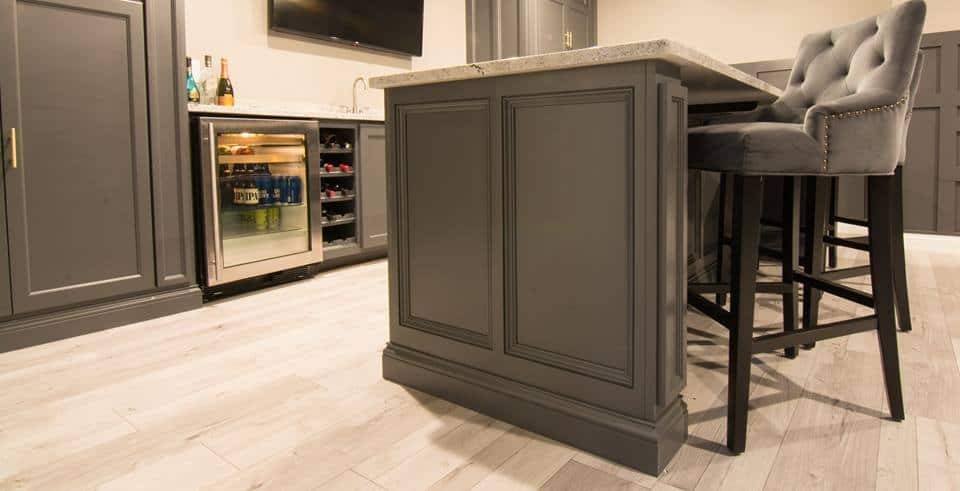 Basement Island And Wet Bar Lewis Custom Cabinets