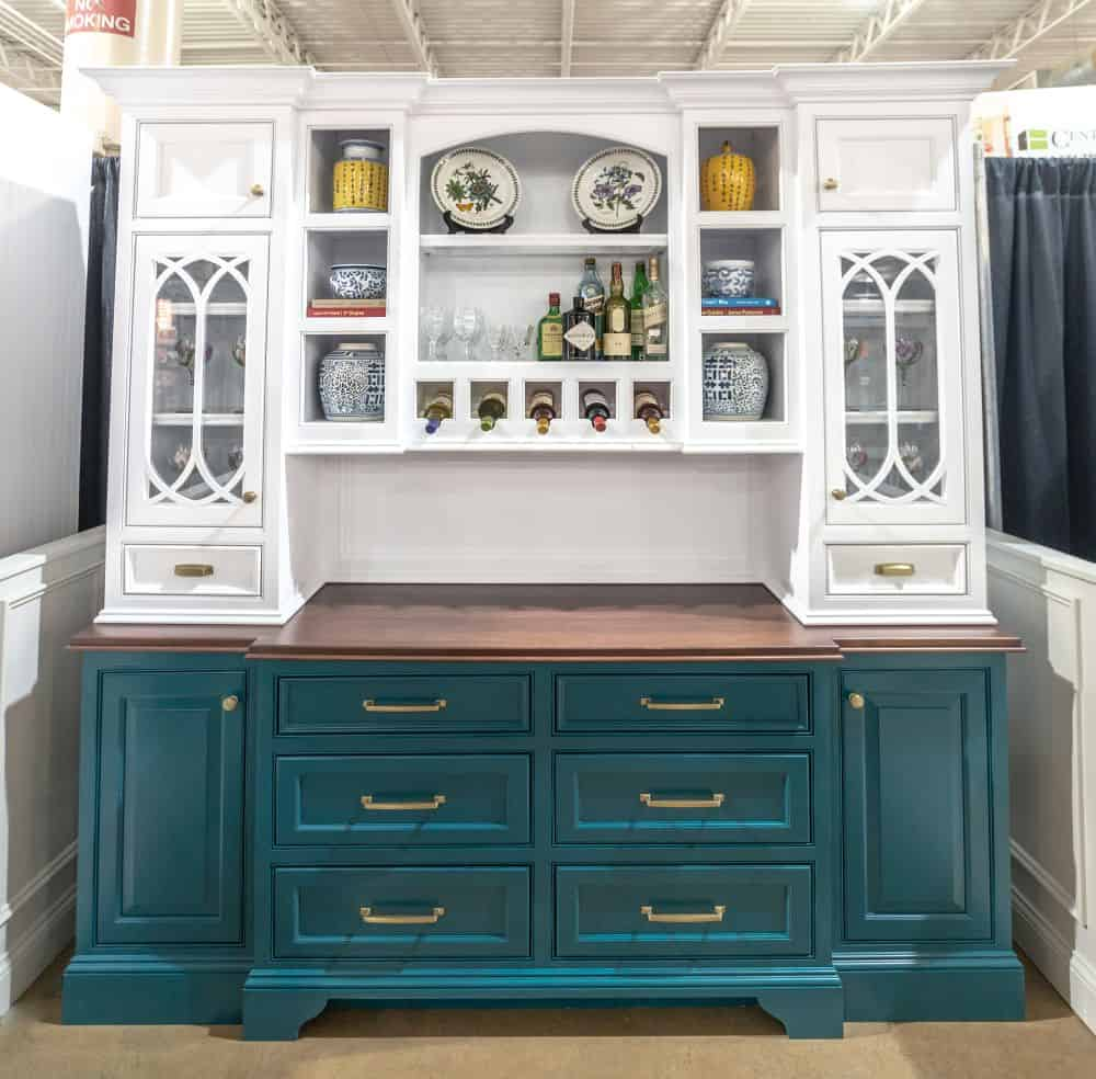 Two Tone Kitchen Buffet Lewis Custom Cabinets