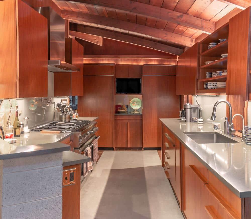 Frank Lloyd Wright Inspired Lewis Custom Cabinets